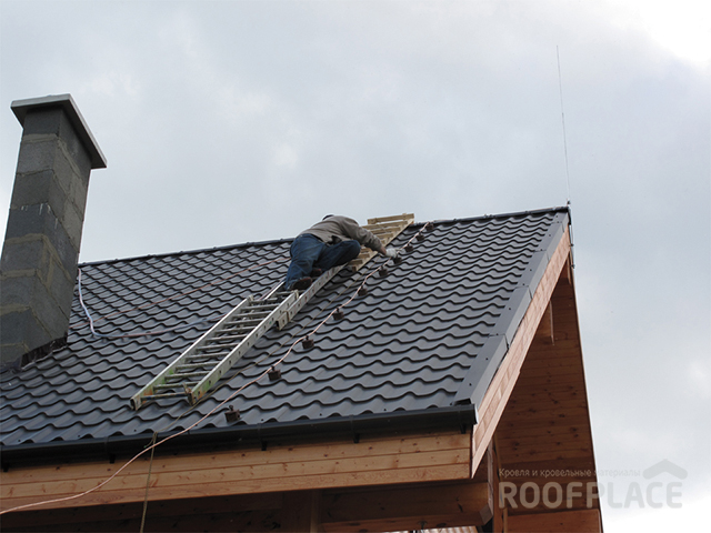 Молниезащита крыши Фото 2